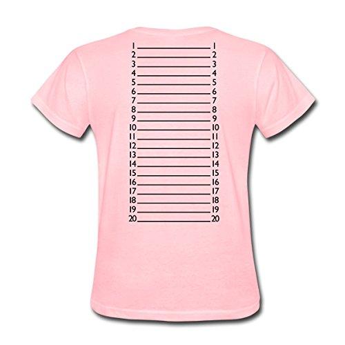 Hair Womens Pink T-shirt - Spreadshirt Hair Length Check Marker Women's T-Shirt, S, pink
