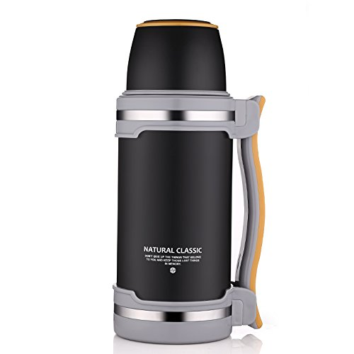 Vacuum Insulated Stainless Steel Water Bottle, ONEISALL 68oz Leak-Proof Double Walled Vacuum Flask, Food grade 304 stainless steel liner, Keeps Drinks Hot for 12 Hours