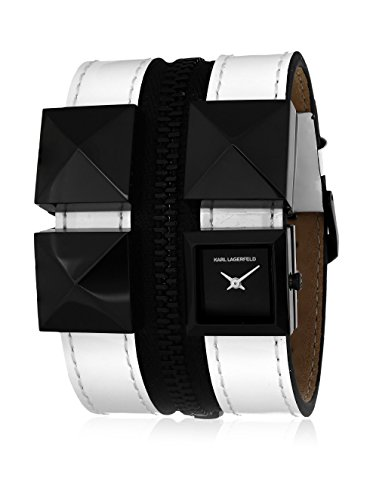 karl-lagerfeld-womens-kl2016-stainless-steel-and-leather-black-watch