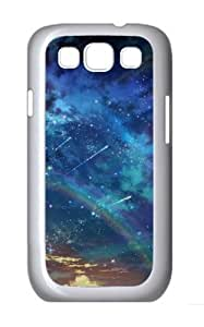 Colorful Space Landscape Polycarbonate Hard Shell Case Cover for Samsung Galaxy S3 / SIII/ I9300 - White