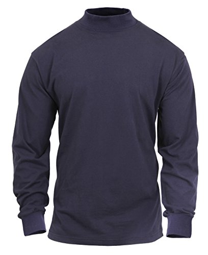 Rothco Mock Turtleneck, Midnight Navy Blue, ()