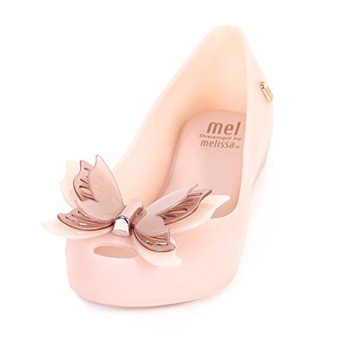 Mel Dreamed By Melissa Kids Ultragirl Butterfly Plastic Flat Blush Matte-Blush-2 (Older) Size 2 (Older)