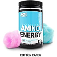 Optimum Nutrition Essential Cotton Candy Keto Friendly BCAAs Preworkout Amino Energy with Green Tea and Green Coffee Extrac 30 Servings