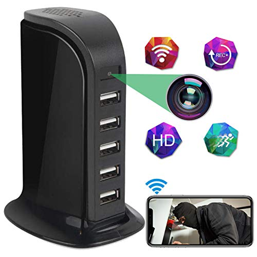 🥇 Spy Camera Wireless Hidden STTWXL Full HD 4K USB Nanny Cam-Suitable for Home and Office Security Cameras-with Motion Detection-Support Android / iOS