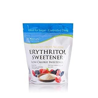 Erythritol Sweetener by Focus Nutrition Non-GMO 1 Pound Zip Lock Bag