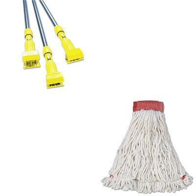 KITRCPA253WHIRCPH246GY - Value Kit - Rubbermaid-Gray Gripper Wet Mop Handle (RCPH246GY) and Rubbermaid Web Foot Wet Mop Head (RCPA253WHI)