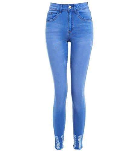 14 femmes SS7 Jean 8 NEUF Bleu 12 MOYENNE jean jeans taille TAILLE 10 Slim skinny TOUR 6 DE jeans Fit gapxadqw4