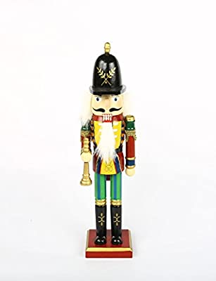 "Wooden Nutcracker King Christmas Nutcracker Decor- 11.8"" Tall (Light Green)"