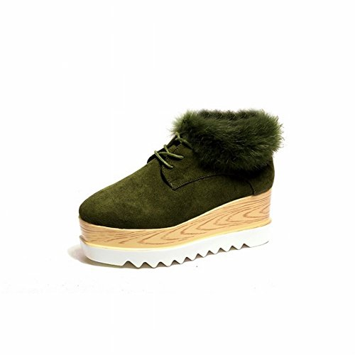 con Partido verde Algodón EUR37 Todo Mate Zapatos Grueso Amortiguados Z0qnw5