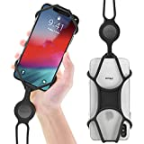 Universal Cell Phone Lanyard Holder, Silicone Neck Strap Smartphone Case for iPhone Xs Max XR X 8 7 6S Plus Samsung Galaxy S10 S9 S8 Note 9 Pixel 3 XL, Phone Tie Series - Black