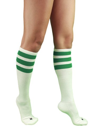 YogaColors Unisex Triple Stripe Sporty Knee High Stars Socks