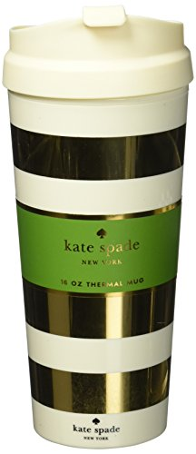Kate Spade New York Thermal Mug  Gold Stripe