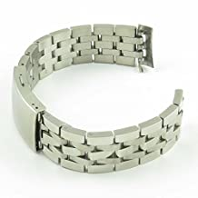 StrapsCo 19mm Curved End Stainless Steel Watch Band for Tissot