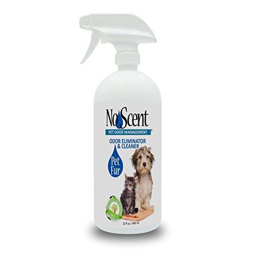 (No Scent Pet Fur - Professional Dog & Cat Grooming Odor Eliminator & Coat Cleaner Between Bath Spray - Safe Natural Fast Microencapsulating Smell Remover Fur Freshener All Pets (32 oz) )