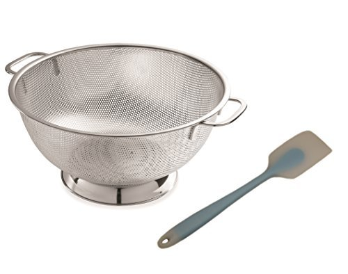 Zozo Galley Stainless Steel colander 4.5-Quart, Micro Perforated Food Strainer Low Price with High Quality Strong Base and Strong Handles Dish Washer Safe (Best Low Price Juicer)