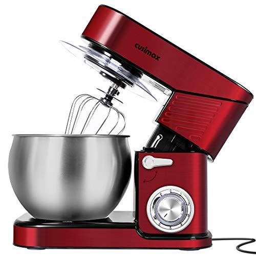 Stand Mixer, CUSIMAX 6.5QT Mixer Stainless Steel kitchen mixer, 6-Speeds Tilt-Head Dough Mixer with Hook, Whisk & Beater…
