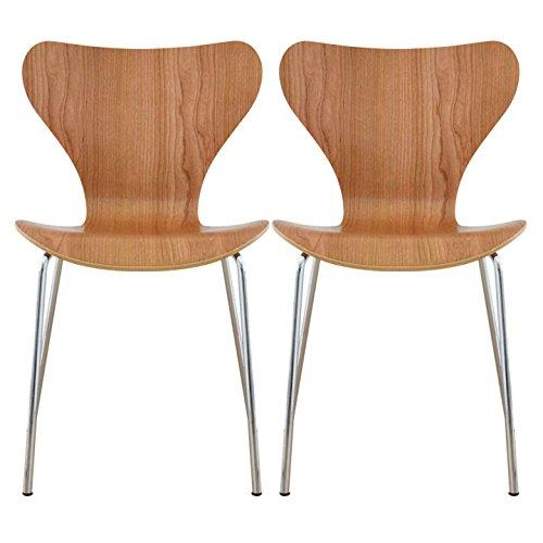 【2個セット】 ottostyle.jp 北欧家具の代名詞!セブンチェア 【デザイナーズ/アルネ/ヤコブセンデザイン】 (チェリー) B00GJKL66C チェリー