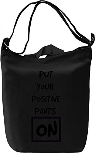 Positive Pants Borsa Giornaliera Canvas Canvas Day Bag| 100% Premium Cotton Canvas| DTG Printing|