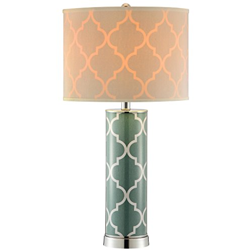 "Stein World 99854 Casablanca Seafoam Green Table Lamp, 14"" x 27.25"""