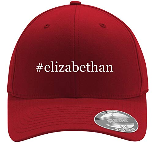 #Elizabethan - Adult Men's Hashtag Flexfit Baseball Hat Cap, Red, Small/Medium -