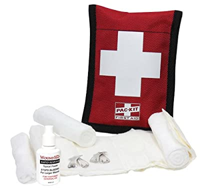 Pac-Kit by First Aid Only 7165 7 Piece Woundseal Climber's Kit in Ballistic Nylon Pouch from Pac-Kit