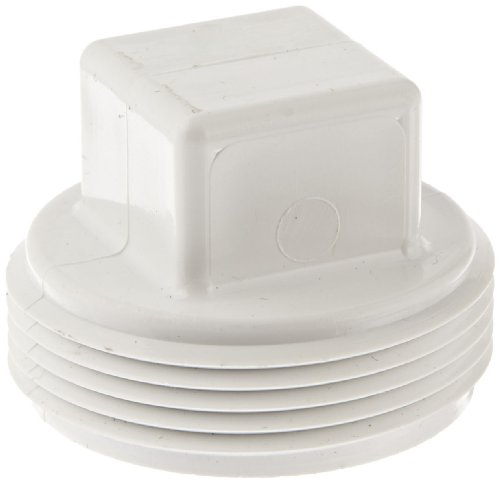 Spears P106 Series PVC DWV Pipe Fitting, Cleanout Plug, 1-1/2
