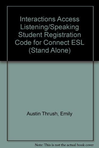 Interactions Access Listening/Speaking Student Registration Code for Connect ESL (Stand Alone)