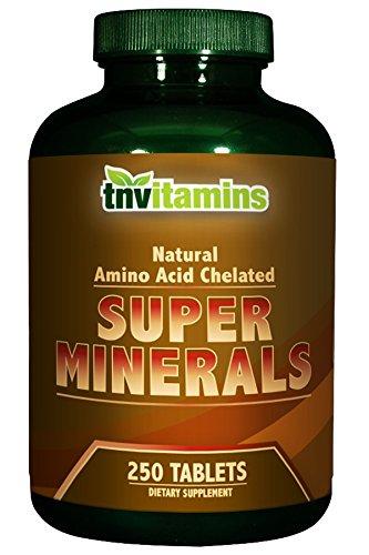 TNVitamins Super Mineral Complex 250 Tablets (Super Chelated Iron)