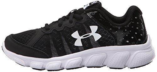 889362256306 - Under Armour Boys' Pre-School Assert 6 Running Shoes, Black/White V1, 3 carousel main 4