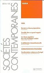 Sociétés contemporaines, N° 86, 2012 : Varia