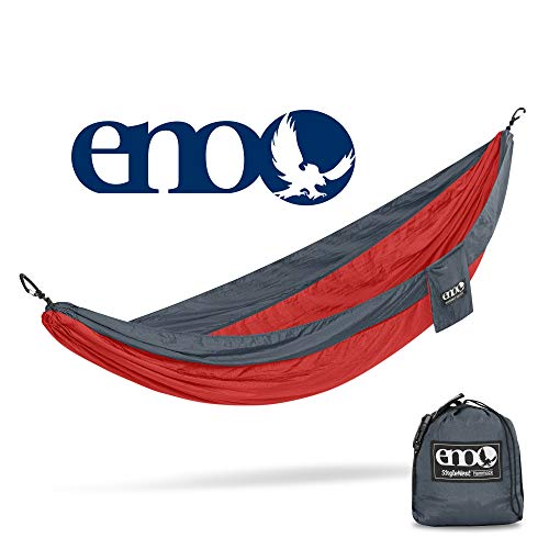 eno – Eagles Nest Outfitters SingleNest Hammock, Portable Hammock for One, Red Charcoal