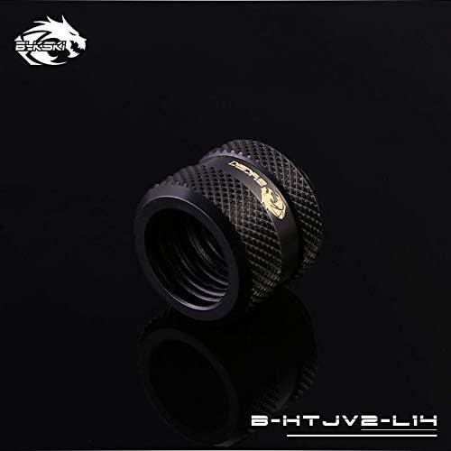 4 Pack Bykski Rigid 14mm OD Fitting V2 Black