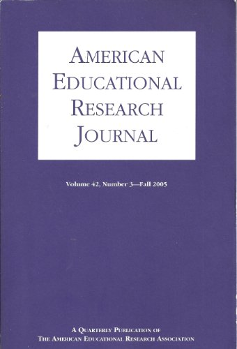 American Educational Research Journal : Predicting College Grades Using High School Grades and SAT Scores; Immigrant Parents School Engagement Experiences; Follow up Results From the Nichd Study of Early Child Care (Vol.42, No. 3 Fall 2005)