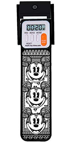 Mark-My-Time 3D Disney Mickey Fractal Digital LED Booklight and Reading Timer - Black]()