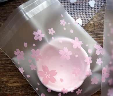 ONOR-Tech 100 PCS Lovely Cute OPP Self Adhesive Cookie Bakery Candy Biscuit Treat Gift Diy Plastic Bag (Flower)
