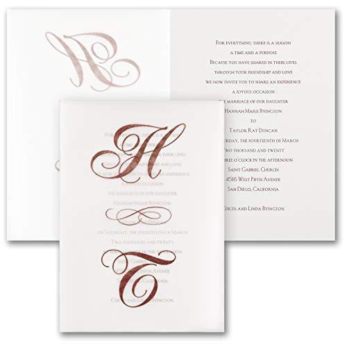 (1050pk Filigree Letters - Invitation-Wedding Invitations)