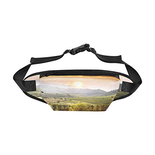 INTERESTPRINT Fanny Pack Travel Pouch for Men & Women, Chianti Vineyard Landscape in Tuscany Fashion Belt Bag Crossbody Body Daypack