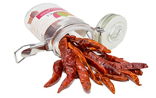 Dried Thai Chili in Glass Spice Preserve Bottle, 0.6oz