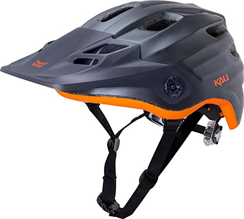 Kali Protectives Maya Enduro Helmet Solid Matte Gunmetal/Orange, S/M