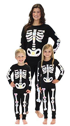 Sleepyheads Halloween Skeleton Bones Family Matching Pajama Set Women's PJ (SHHM-4023-W-SML)