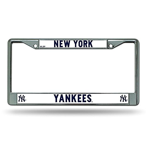 (MLB New York Yankees Chrome License Plate Frame)