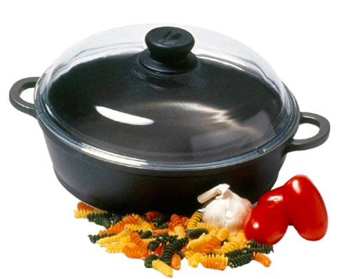 Berndes 674049 Tradition Sauté Casserole Pan with Glass Lid, 11 ()