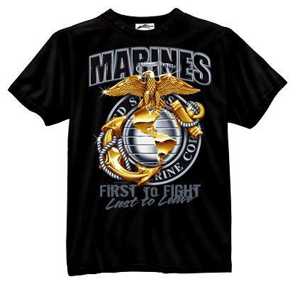Rothco Bi - Marine Globe & Anchor T-Shirt, (Camo Marine Globe)