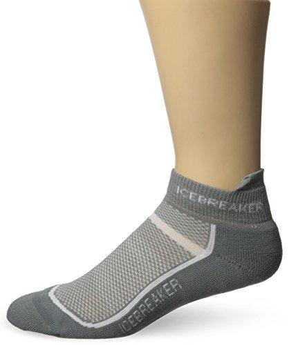 Icebreaker Men's Multisport Light Micro Socks, Fossil/White, Large