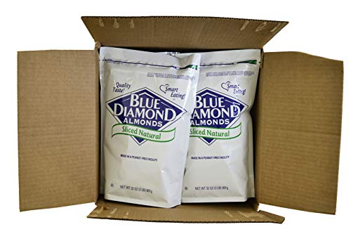 Blue Diamond, Natural Sliced Almonds 2 lb. (4 Count) by Blue Diamond Almonds