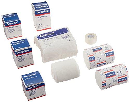 - Sammons Preston Full Arm Lymphedema Bandaging Kit, 1 Roll Tricofix, 2 Rolls Artiflex, 1 Bag Elastomull, 5 Rolls Comprilan & Paper Tape, Compression Wraps Reduce Edema & Pain from Swelling