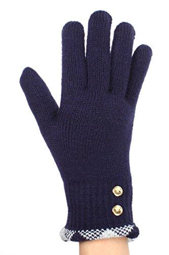 Coat Dog Plush (LL Womens Warm Winter Knit Fashion Gloves, Fleece Lined - Many Styles (G5228-NV))
