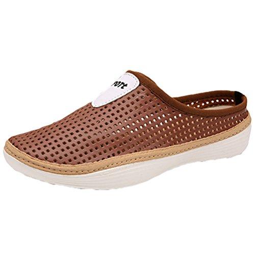 YOUJIA Zapatillas aire playa Respirable la Al Agua Zapatos Marrón de Unisexo 1 Verano libre Zuecos Plano Onpnxr
