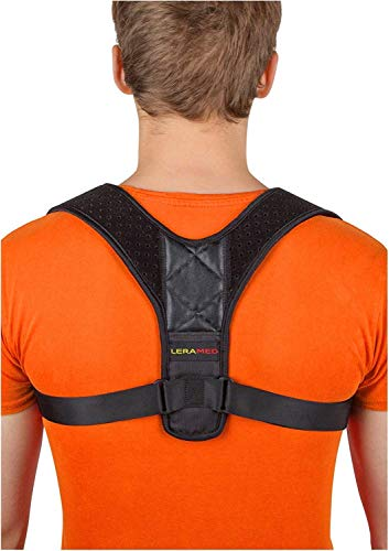 LERAMED [Newest 2019] Posture Corrector for Women and Men | FDA Approved Neck Pain Relief | Adjustable Upper Back Brace for Clavicle Support