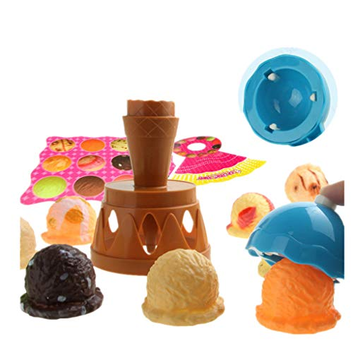 (AMA(TM) Ice Cream Stacking Tower Balancing Game with Scooper for Kids Cooking Play Toys (multi-colored))
